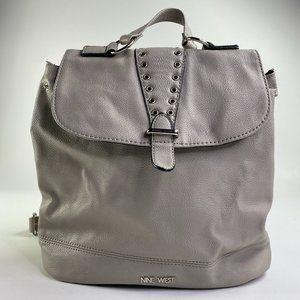Nine West Gray Rivet Backpack